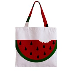 Food Slice Fruit Bitten Watermelon Zipper Grocery Tote Bag