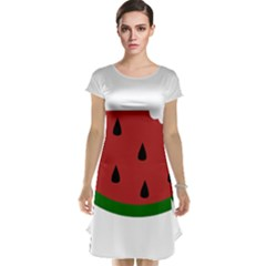 Food Slice Fruit Bitten Watermelon Cap Sleeve Nightdress