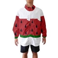 Food Slice Fruit Bitten Watermelon Wind Breaker (Kids)