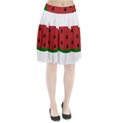 Food Slice Fruit Bitten Watermelon Pleated Skirt