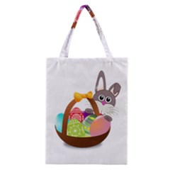 Easter Bunny Eggs Nest Basket Classic Tote Bag