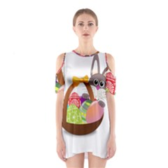 Easter Bunny Eggs Nest Basket Shoulder Cutout One Piece