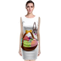 Easter Bunny Eggs Nest Basket Classic Sleeveless Midi Dress