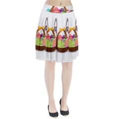 Easter Bunny Eggs Nest Basket Pleated Skirt