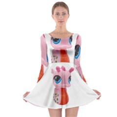 Dragon Toy Pink Plaything Creature Long Sleeve Skater Dress