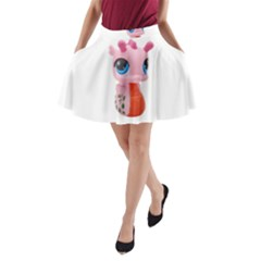 Dragon Toy Pink Plaything Creature A-Line Pocket Skirt