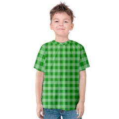 Gingham Background Fabric Texture Kids  Cotton Tee