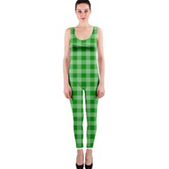 Gingham Background Fabric Texture OnePiece Catsuit