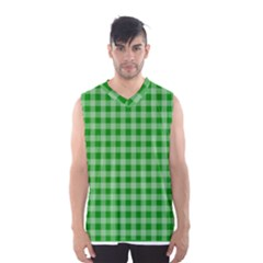 Gingham Background Fabric Texture Men s Basketball Tank Top