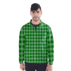 Gingham Background Fabric Texture Wind Breaker (Men)