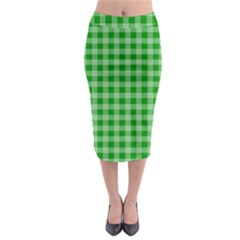 Gingham Background Fabric Texture Midi Pencil Skirt