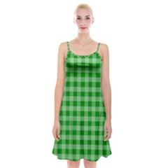 Gingham Background Fabric Texture Spaghetti Strap Velvet Dress