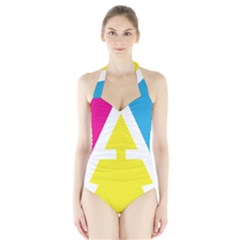 Graphic Design Web Design Halter Swimsuit