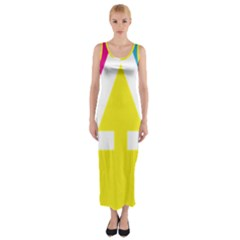 Graphic Design Web Design Fitted Maxi Dress