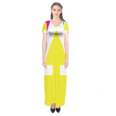 Graphic Design Web Design Short Sleeve Maxi Dress