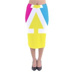 Graphic Design Web Design Velvet Midi Pencil Skirt