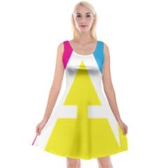 Graphic Design Web Design Reversible Velvet Sleeveless Dress