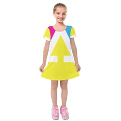 Graphic Design Web Design Kids  Short Sleeve Velvet Dress
