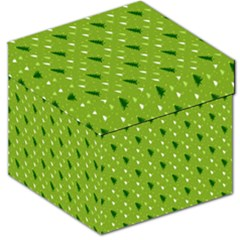Green Christmas Tree Background Storage Stool 12