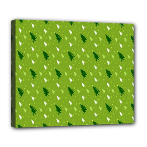 Green Christmas Tree Background Deluxe Canvas 24  x 20