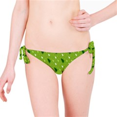 Green Christmas Tree Background Bikini Bottom