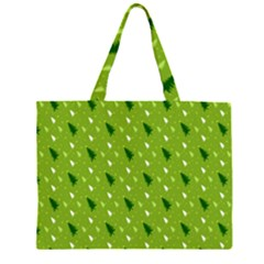 Green Christmas Tree Background Large Tote Bag