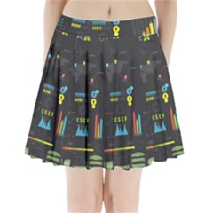 Graphic Table Symbol Vector Chart Pleated Mini Skirt
