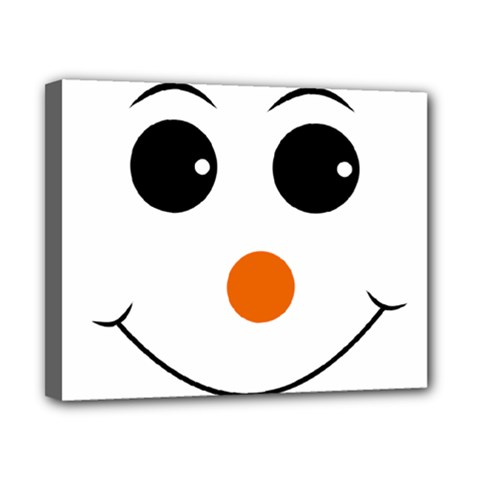 Happy Face With Orange Nose Vector File Canvas 10  x 8