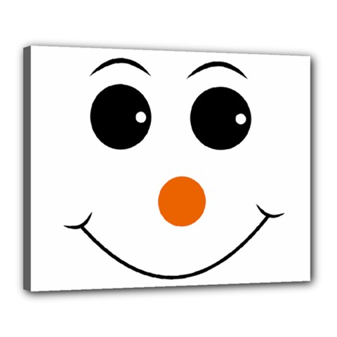 Happy Face With Orange Nose Vector File Canvas 20  x 16