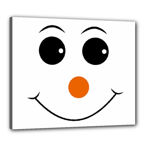 Happy Face With Orange Nose Vector File Canvas 24  x 20