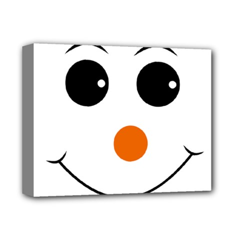 Happy Face With Orange Nose Vector File Deluxe Canvas 14  x 11