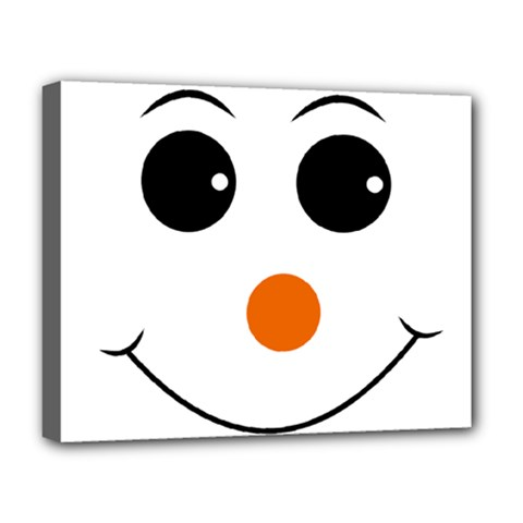 Happy Face With Orange Nose Vector File Deluxe Canvas 20  x 16