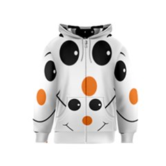 Happy Face With Orange Nose Vector File Kids  Zipper Hoodie