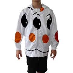 Happy Face With Orange Nose Vector File Hooded Wind Breaker (Kids)