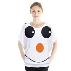 Happy Face With Orange Nose Vector File Blouse
