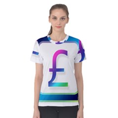 Icon Pound Money Currency Symbols Women s Cotton Tee