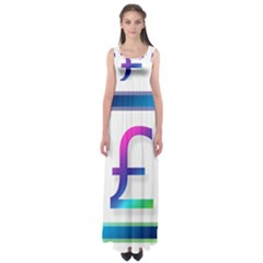 Icon Pound Money Currency Symbols Empire Waist Maxi Dress