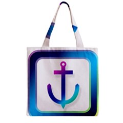 Icon Anchor Containing Fixing Zipper Grocery Tote Bag