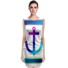 Icon Anchor Containing Fixing Classic Sleeveless Midi Dress