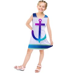 Icon Anchor Containing Fixing Kids  Tunic Dress