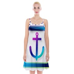 Icon Anchor Containing Fixing Spaghetti Strap Velvet Dress