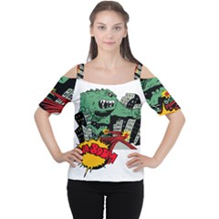 Monster Women s Cutout Shoulder Tee