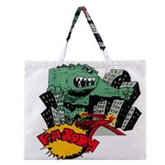 Monster Zipper Large Tote Bag