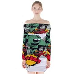 Monster Long Sleeve Off Shoulder Dress