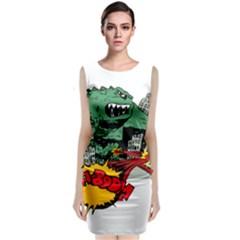 Monster Sleeveless Velvet Midi Dress