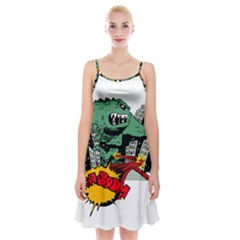 Monster Spaghetti Strap Velvet Dress