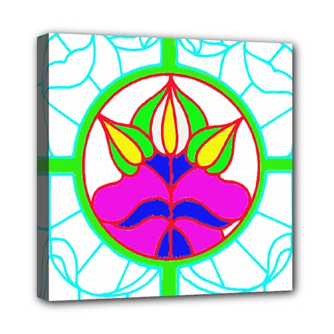 Pattern Template Stained Glass Mini Canvas 8  x 8