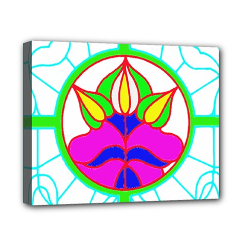 Pattern Template Stained Glass Canvas 10  x 8