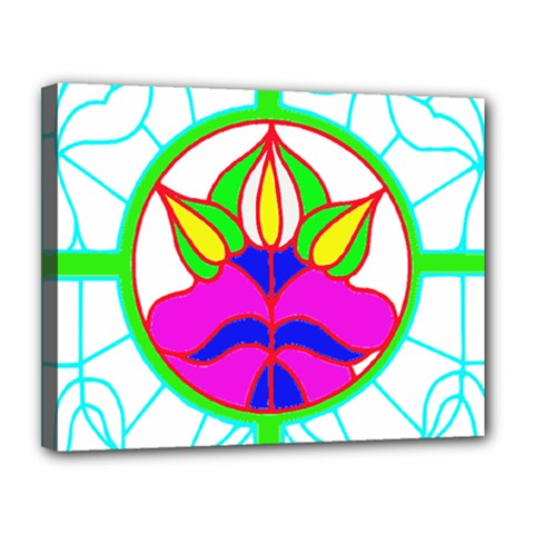 Pattern Template Stained Glass Canvas 14  x 11