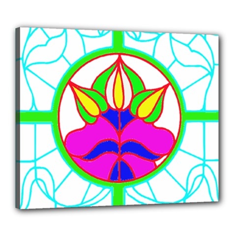 Pattern Template Stained Glass Canvas 24  x 20